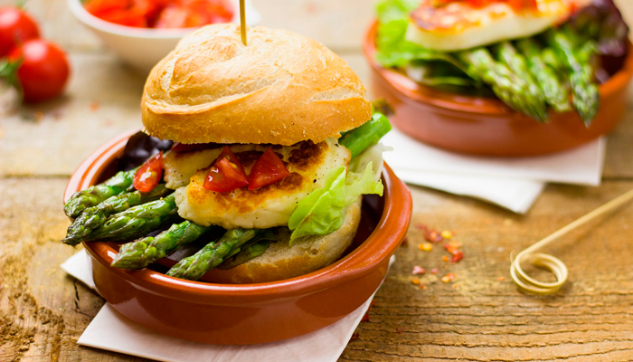 hamburger aux asperges