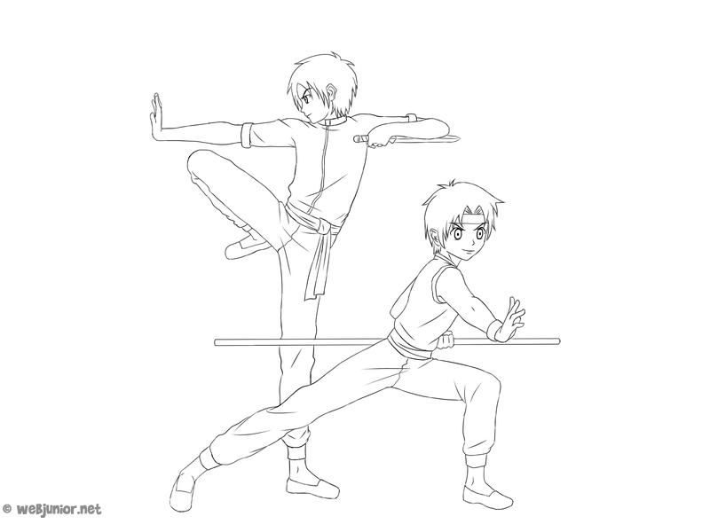 Lecon D Art Martial Coloriage Mangas Gratuit Sur Webjunior