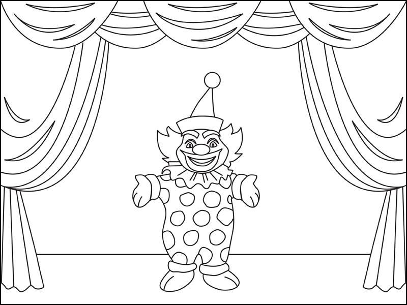 Au cirque le clown coloriage occasions gratuit sur - Jeux de clown tueur gratuit ...