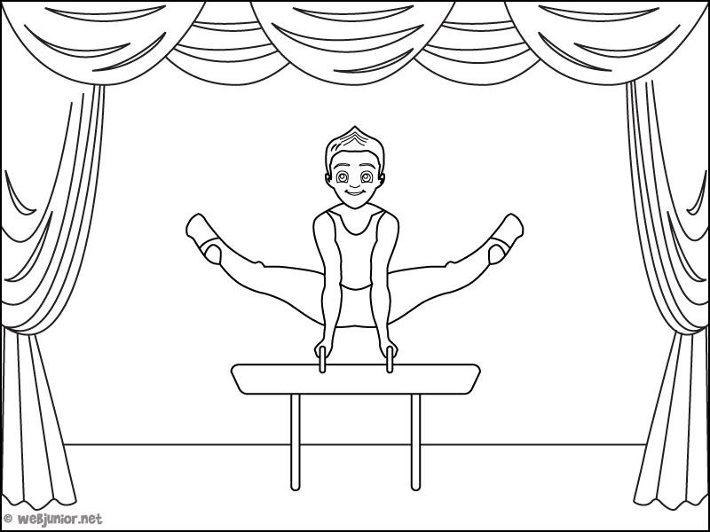Au cirque, l'acrobate : coloriage Occasions gratuit sur ...