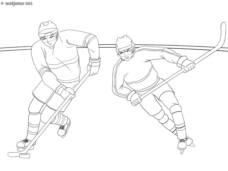 Hockey Sur Glace Coloriage Sports Gratuit Sur Webjunior