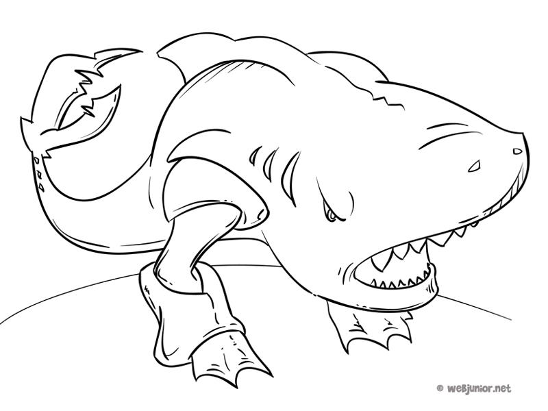 Requin terrestre coloriage monstres gratuit sur webjunior - Dessin qui font peur ...