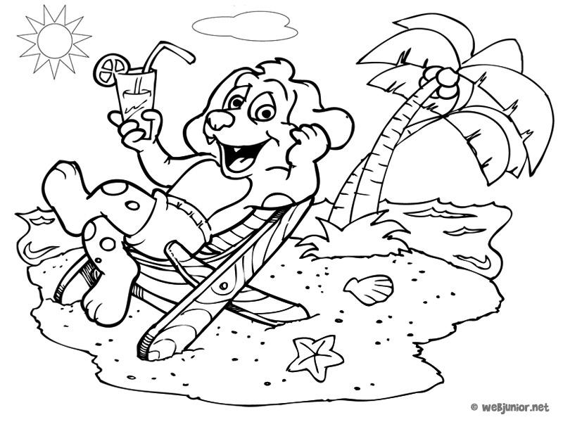 dessin a imprimer vacances