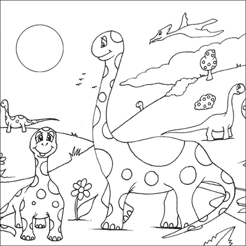 Famille dinosaures coloriage animaux gratuit sur webjunior - Dessins de dinosaures ...