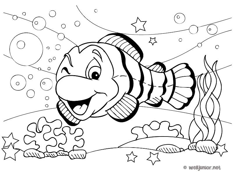 Coloriage poisson aquarium a imprimer gratuit - Poisson a imprimer gratuitement ...