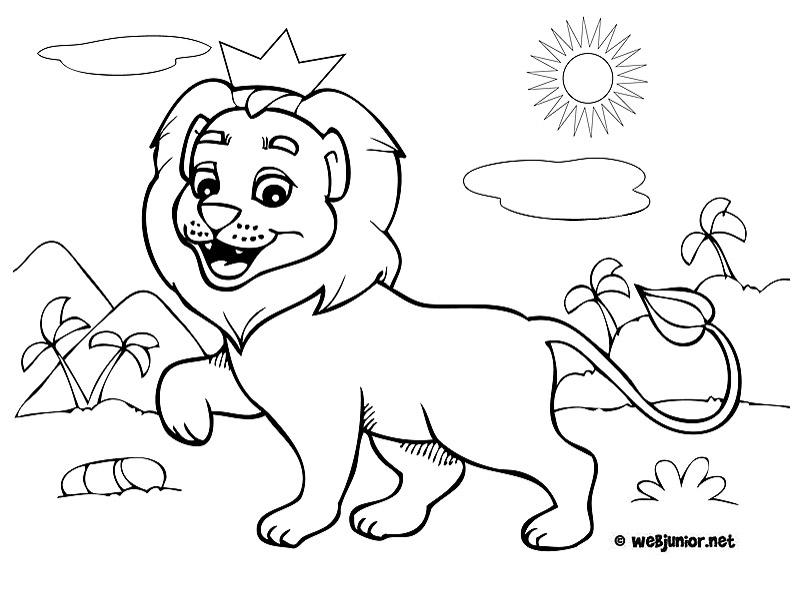 le petit roi lion coloriage animaux gratuit sur webjunior. Black Bedroom Furniture Sets. Home Design Ideas