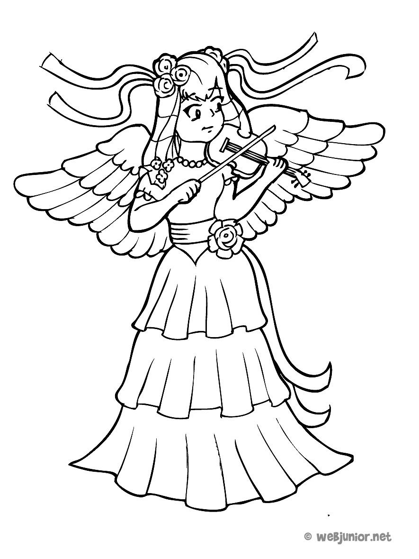 La princesse au violon coloriage mangas gratuit sur webjunior - Coloriage manga rock ...