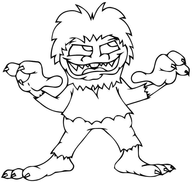 monstre 224 3 griffes coloriage monstres gratuit sur webjunior