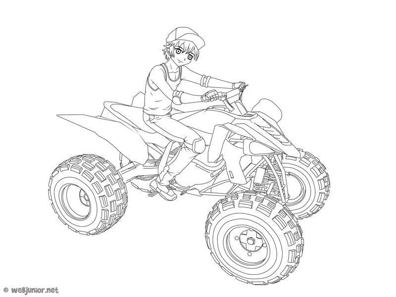Le Garcon Au Quad Coloriage Mangas Gratuit Sur Webjunior