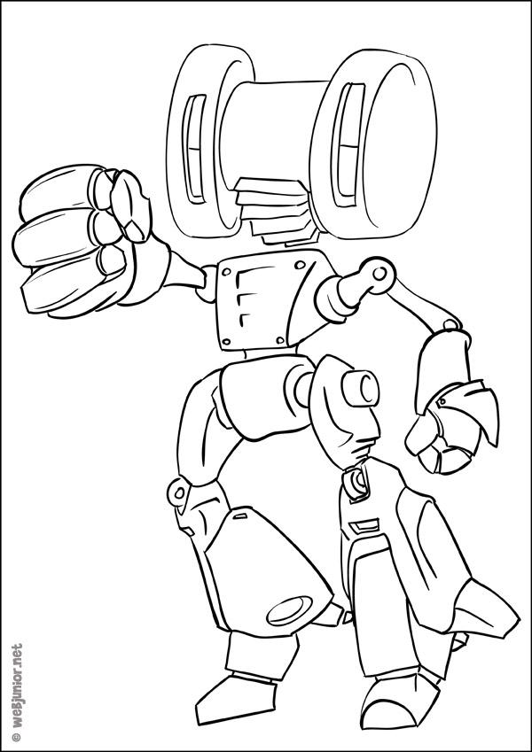 Nono Le Petit Robot Coloriage Personnages Gratuit Sur Webjunior