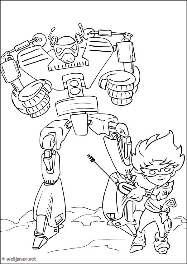 Le robot t l command coloriage mangas gratuit sur webjunior - Coloriage franky le robot ...