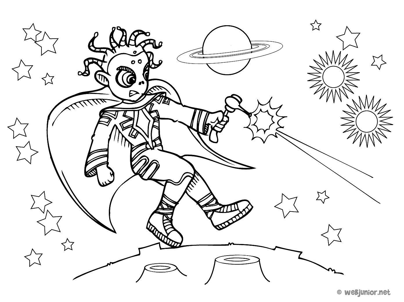 Combat extraterrestre coloriage personnages gratuit sur - Coloriage extraterrestre ...