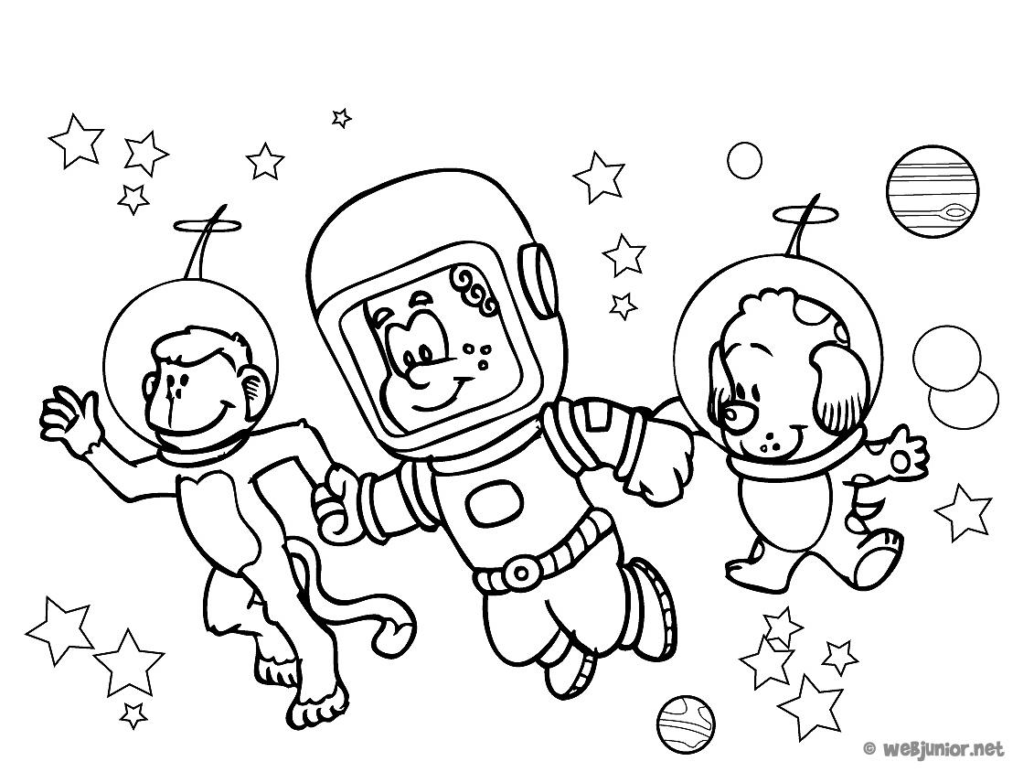 Le trio de l 39 espace coloriage personnages gratuit sur - Voyageur dessin ...