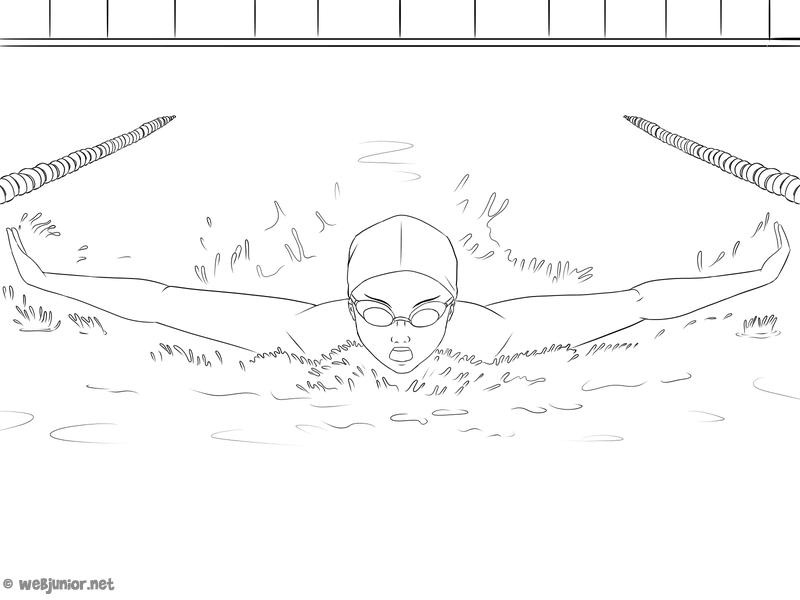 La natation coloriage sports gratuit sur webjunior - Natation dessin ...