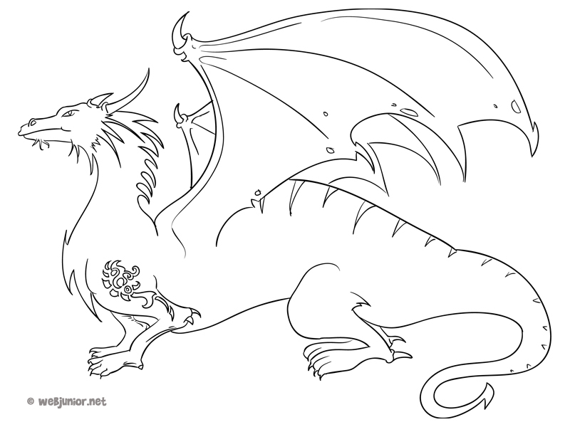 Coloriage dragon chinois tattoo pictures to pin on pinterest - Dessin dragon japonais ...