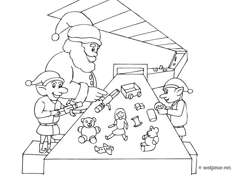 L Atelier Du Père Noël Coloriage Occasions Gratuit Sur