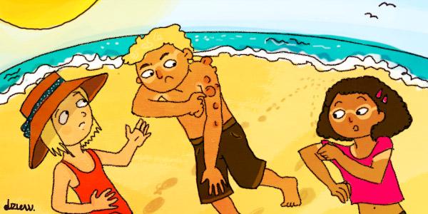 Le coup de soleil les astuces des enfants sur webjunior - Peau qui brule comme un coup de soleil ...