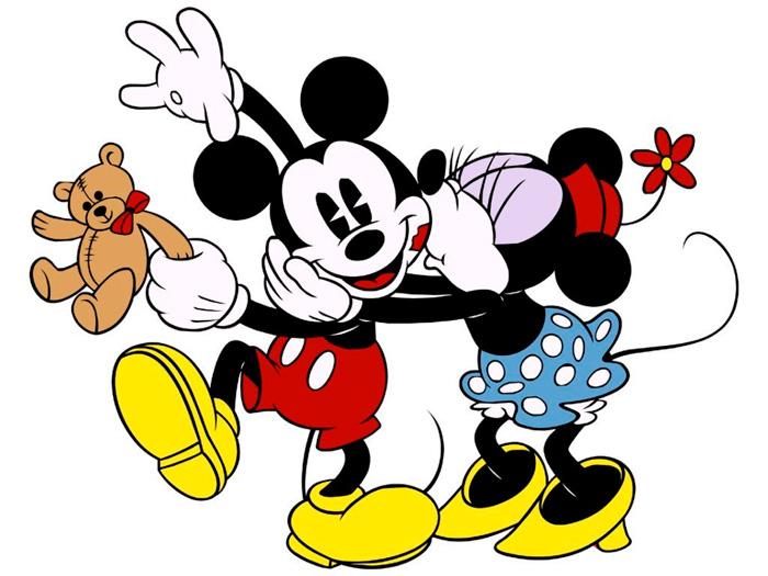 Carte Virtuelle Mickey Et Minnie Pour Enfant Envoyer Carte D Amitie