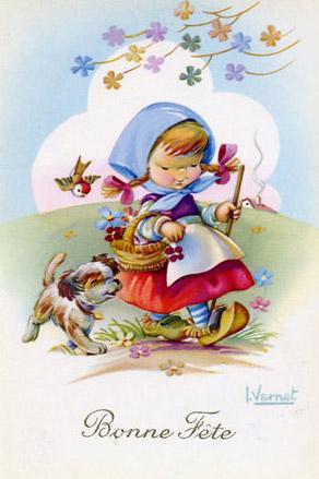 Carte Bonne Fete Fille.Carte Virtuelle La Petite Fille Pour Enfant Envoyer Carte